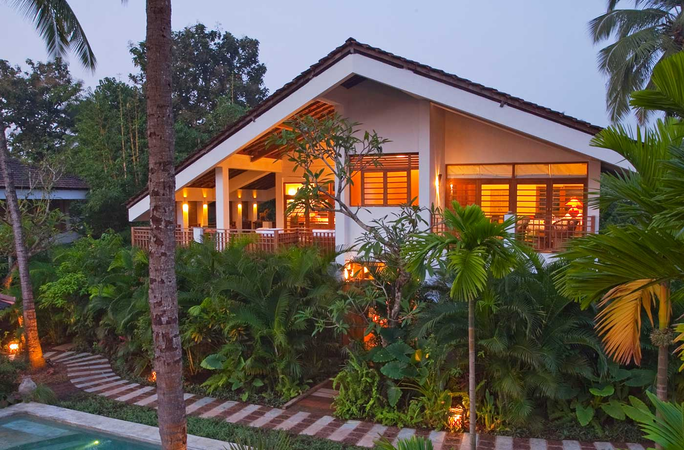 Luxury Villa - Bharnini, beautifully sitting in the Coco Shambhala gardens combines simplicity and luxury.