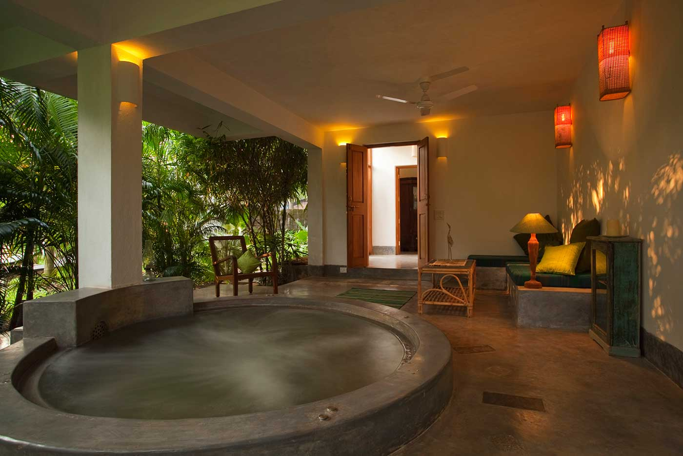 Coco Shambhala's Luxury Villa - Bharini, has a jet pool area that personifies a silent retreat for those looking to spend some quiet time.