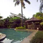 The chemical-free swimming pool at Coco Shambhala
