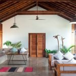 Open Air Living Pavilion: Unwind in the comfort of tastefully crafted coconut wood furniture at the Luxury Villa Hotel Arka at Sindhudhurg, Coco Shambhala.