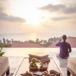 Luxury Villa Varenya at Coco Shambhala boasts of boasts of sea views stretching to the horizon, framed by the red clay tiled roofs below it.